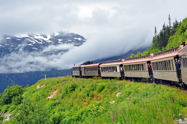 The White Pass Railway in Alaska