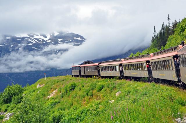The White Pass Railway in Alaska