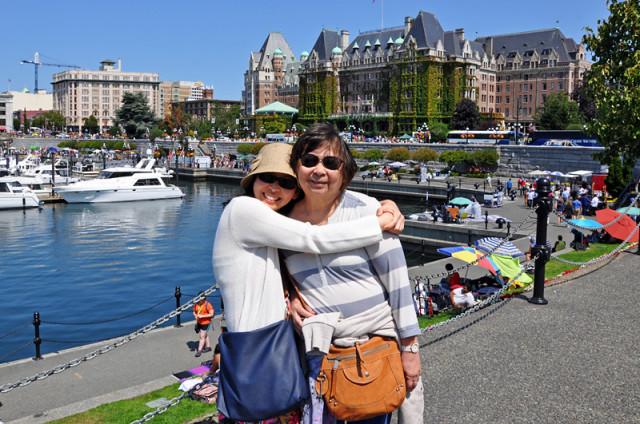 Charlotte and Mom in Victoria